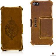 LEICKE MANNA Bookcover aus Nubuk-Leder für iPhone 5/ 5S/ SE, braun