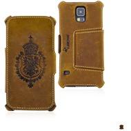 MANNA BookCover aus Nubukleder für Samsung Galaxy S5, braun