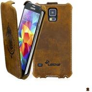 LEICKE MANNA FlipCover aus Nubukleder für Samsung Galaxy S5, braun