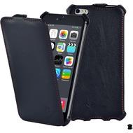 LEICKE MANNA FlipCover aus Nappaleder für iPhone 6 Plus, schwarz