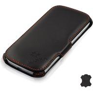LEICKE MANNA UltraSlim-BookCover aus Nappaleder für Samsung Galaxy S3, schwarz