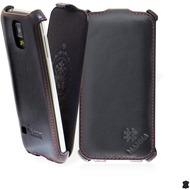 LEICKE MANNA Flipcover aus Nappaleder für Samsung Galaxy S5, schwarz