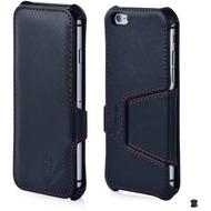 LEICKE MANNA UltraSlim-BookCover aus Nappaleder für iPhone 6 Plus, schwarz