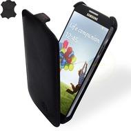 MANNA UltraSlim-FlipCover aus Nappaleder für Samsung Galaxy S4, schwarz