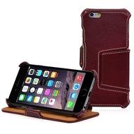 MANNA UltraSlim-BookCover für iPhone 6/ 6s, Rotbraun