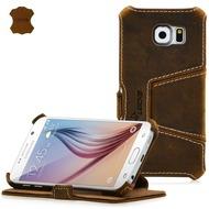 LEICKE MANNA UltraSlim-BookCover für Samsung Galaxy S6, braun