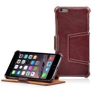 LEICKE MANNA UltraSlim-BookCover für iPhone 6 Plus/ 6s Plus, Rotbraun