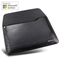 maroo Executive Leder-Tasche /  Sleeve, Microsoft Surface Go 2/ Go, schwarz, MR-MS3104