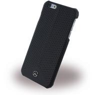Mercedes-Benz Pure Line Peforated Leder Hard Cover/  Case/  Schutzhülle - Apple iPhone 6 Plus/ 6s Plus, Schwarz
