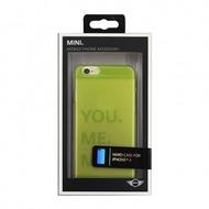 Mini Cooper Transparent  Hart Case für  Apple iPhone 6, gelb