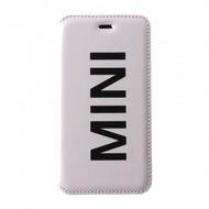 Mini Cooper Vinly Collection,  Leder Book Case für   iPhone 6, weiß