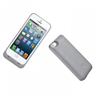 mobee induktives Akku Case für iPhone 5/ 5S/ SE, 2.200mAh, grau
