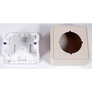 HDK Aufputz-Montageset für Netzwerk-Anschlussdosen (5 Stück), perlweiss