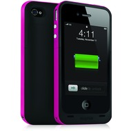 Mophie Juice Pack Plus f�r iPhone 4 /  4S, magenta