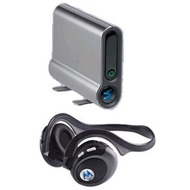 Motorola Bluetooth-Headset Stereo HT820 + DC800 Stereo Adapter