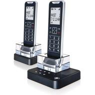 Motorola IT.6.2TX Design-DECT Duo-Telefon in kompletter Metallausführung, mit AB, schwarz