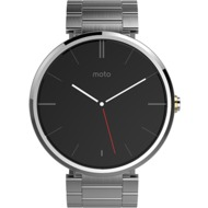 Motorola moto 360 Smartwatch, Metal Edition, silber