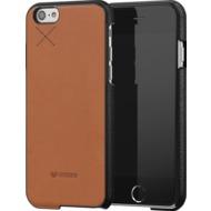 Mozo iPhone 6 Plus/ 6s Plus Back Cover - braunes Leder - schwarz