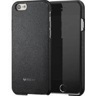 Mozo iPhone 6 Plus/ 6s Plus Back Cover - schwarzes Leder