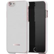 Mozo iPhone 6 Plus/ 6s Plus Back Cover - weißes Leder - roségold