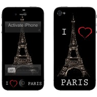 muvit Customization Kit für iPhone 4, I love Paris