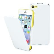 muvit iFlip Klapp Hülle für iPhone 5C, Weiß