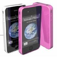 muvit miniGEL Duo für iPhone 4/ 4S, 2er Pack, weiß & fuchsia