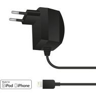 muvit Reisenetzteil für iPhone 5/ 5S/ 5C/ SE mit Lightning-Anschluss, 1 A