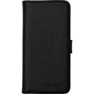 nevox ORDO Booktasche für Apple iPhone 5/ 5S/ SE, schwarz-grau