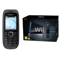 Nokia 1616, schwarz inkl. Nintendo Black Wii Sports Paket
