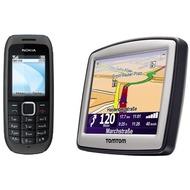 Nokia 1616, schwarz inkl. TomTom ONE Classic v4 DACH