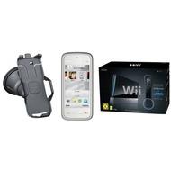 Nokia 5230 Navigationsedition, weiß-dunkelsilber inkl. Nintendo Black Wii Sports Paket