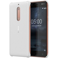 Nokia Carbon Fibre Design Case CC-803 for Nokia 5 Pearl White