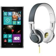 Nokia Lumia 925, grau (Telekom) + Jabra Stereo Headset REVO, grau