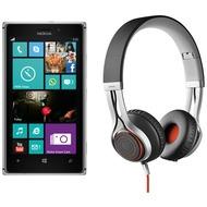 Nokia Lumia 925, grau (Telekom) + Jabra Stereo Headset REVO, schwarz
