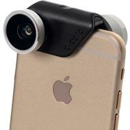olloclip Kameraobjectiv 4in1 iPhone 6/ 6Plus, Silberne Linse, schwarzer Clip