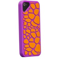 Olo Fashion Giraffe für iPhone 5, lila-orange