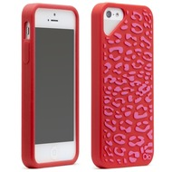 Olo Fashion Leopard für iPhone 5, rot-pink