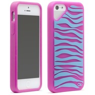 Olo Fashion Zebra für iPhone 5, pink-blau