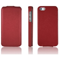 Optima FlipCover Lychee für iPhone 5, rot
