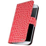 OXO Bookcase Patchwork für Samsung Galaxy S5, Croco Pink
