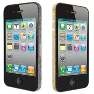 Ozaki iCoat BlingBling Sticker f�r iPhone 4S, gold&black