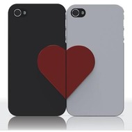 Ozaki iCoat Lover Forever f�r iPhone 4/ 4S, schwarz/ wei�