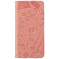Ozaki O!Coat Travel Folio Leder-Case für Apple iPhone 6 Plus Paris (pink)