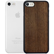 Ozaki O!Coat 0.3 Jelly + Wood Case - Apple iPhone 7 /  iPhone 8 - ebony & transparent