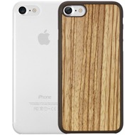 Ozaki O!Coat 0.3 Jelly + Wood Case - Apple iPhone 7 /  iPhone 8 - zebrano & transparent