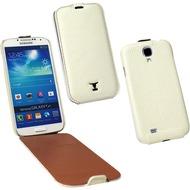 OZBO Ledertasche Alura Flip creme für Samsung Galaxy S4