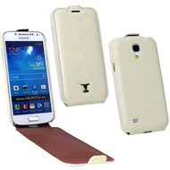 OZBO Ledertasche Alura Flip creme für Samsung Galaxy S4 Mini