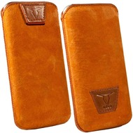Fontastic OZBO Ledertasche Belle XL - orange - 137x71x10mm