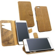 Fontastic OZBO Ledertasche Diary Rebo - sand - für Apple iPhone 6+/ 6s+
